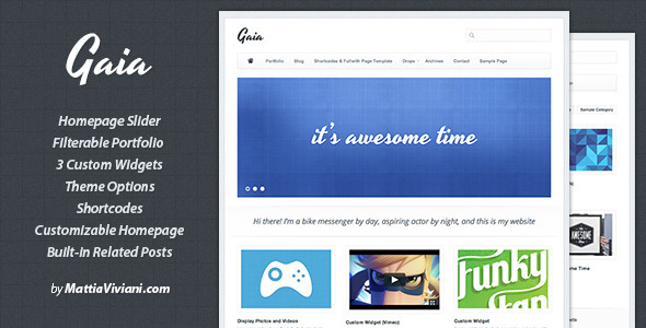 ThemeForest Gaia Wordpress Portfolio Theme 407544