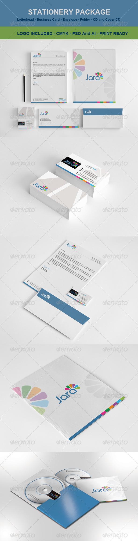 Stationary & Identity : Jara  - Stationery Print Templates