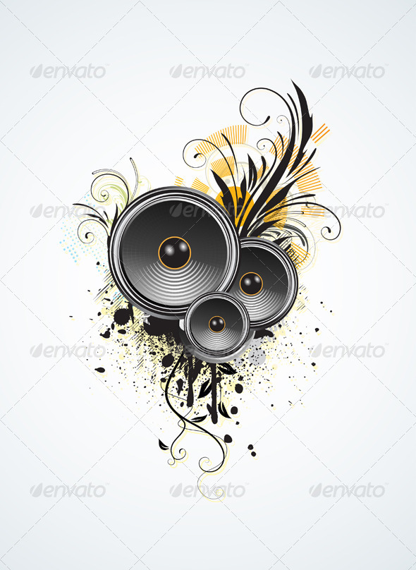 Music design elements - Decorative Vectors