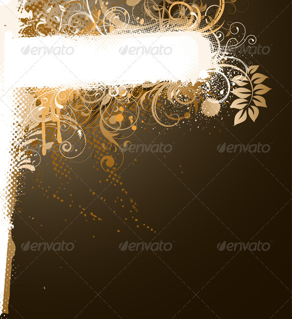 Floral banner - Decorative Vectors