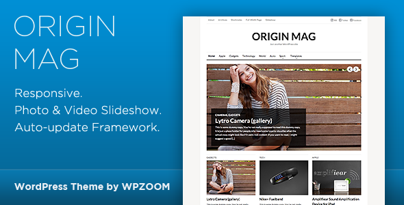 OriginMag - WordPress Magazine Theme - Blog / Magazine WordPress