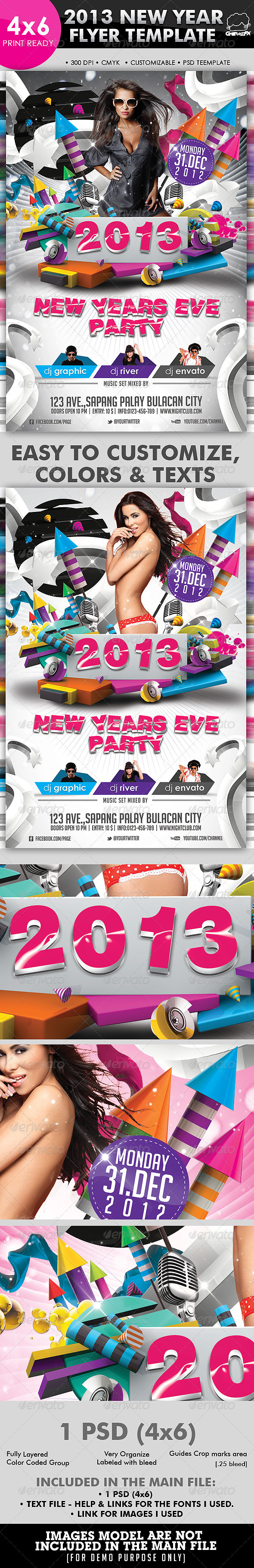 2013 New Year Flyer Template - Clubs & Parties Events