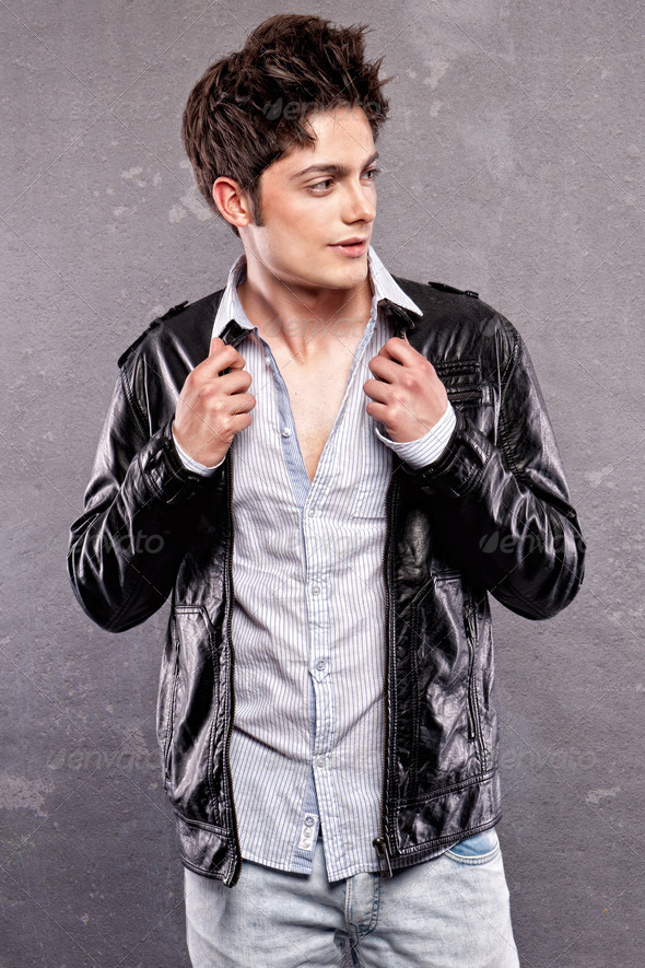 Fashion shoot with male model - Stock Photo - Images