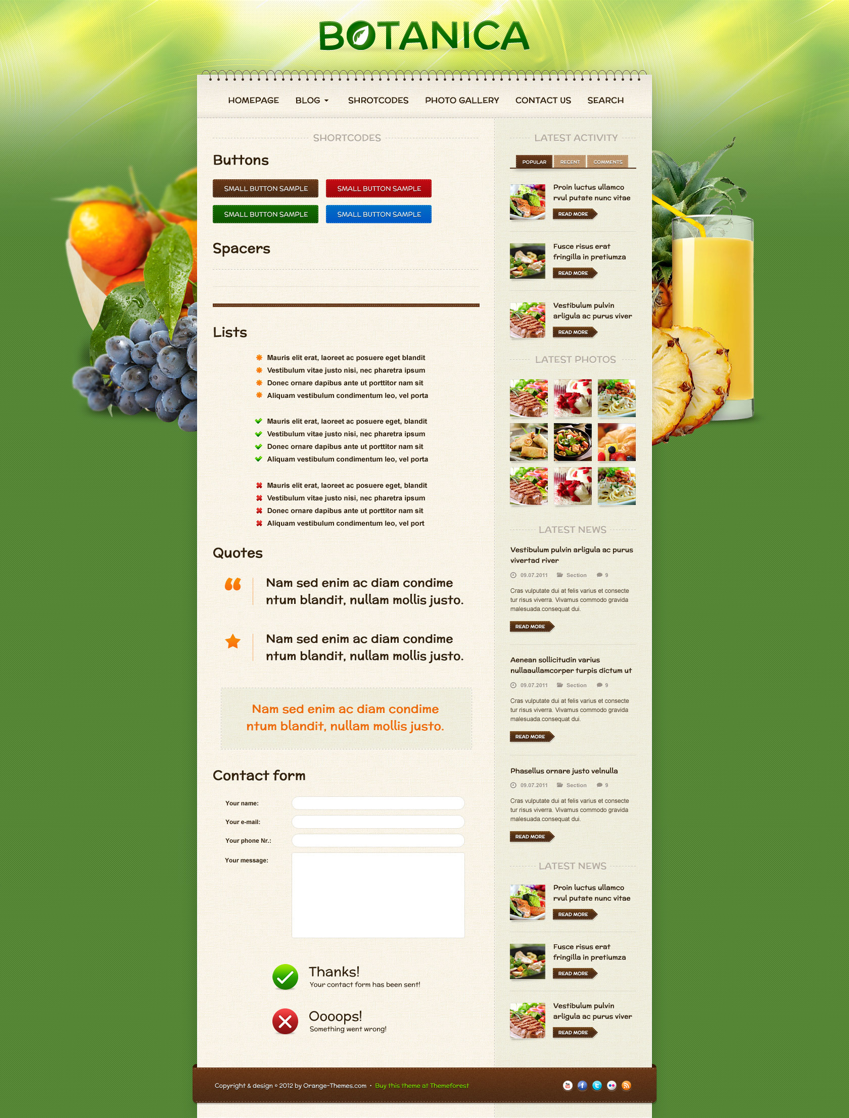 Botanica - Diet & Fitness HTML Template