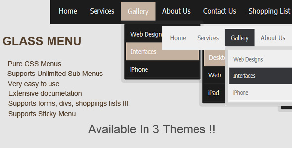 CodeCanyon GlassMenu 109071