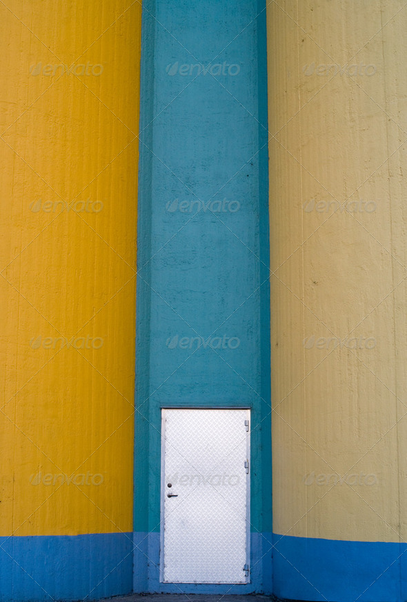 Door to grain silos  - Stock Photo - Images