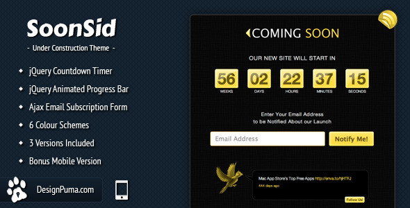SoonSid - Coming Soon Theme