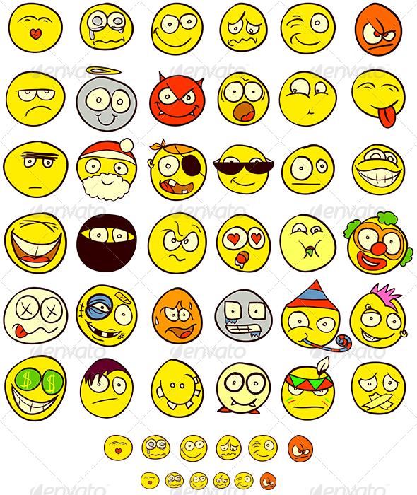 GraphicRiver 36 Smiley 3234664