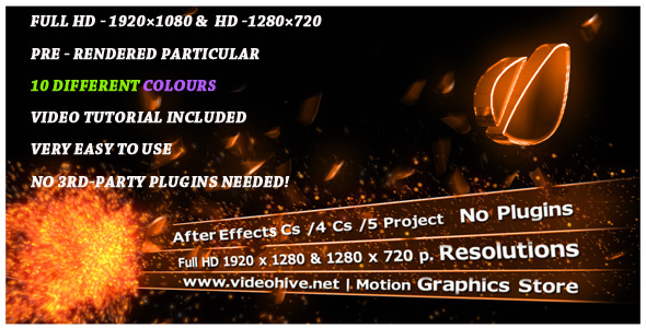 After Effects Project - VideoHive Partical Explosion Lower Third 3176718