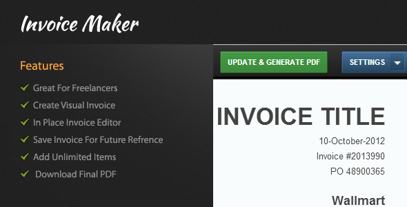 CodeCanyon Visual Invoice Maker 3139784