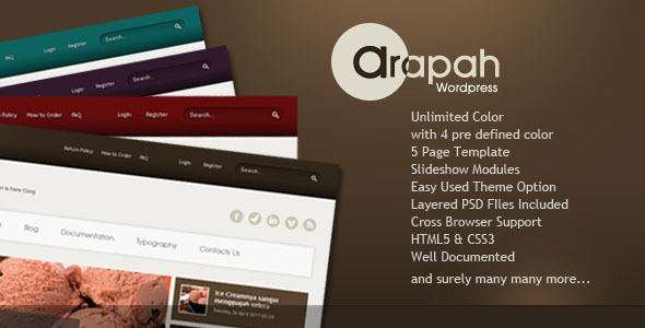 Arapah - Modern Culinary WordPress Themes