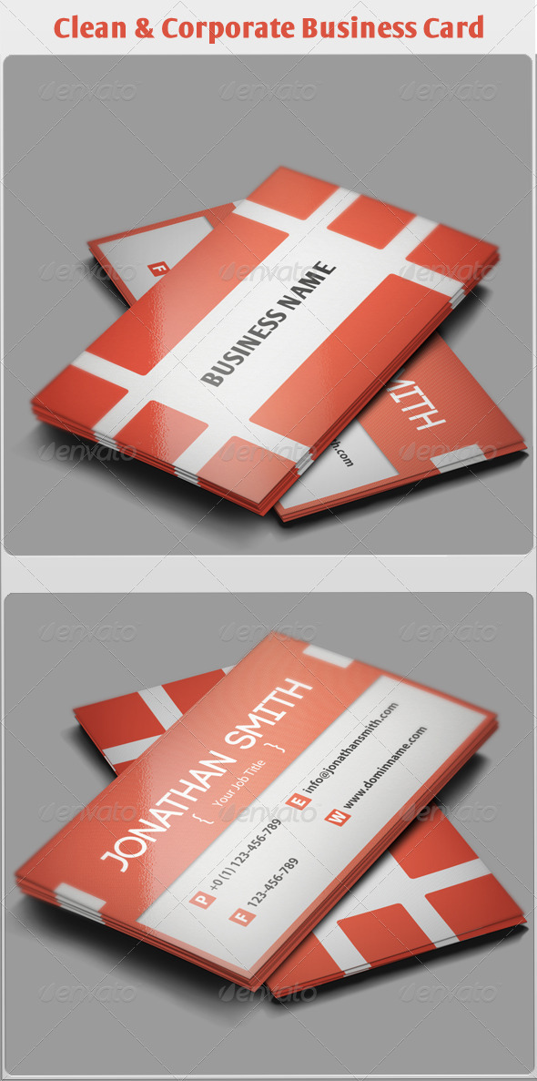 Clean & Corporate Business Card - Corporate Business Cards
