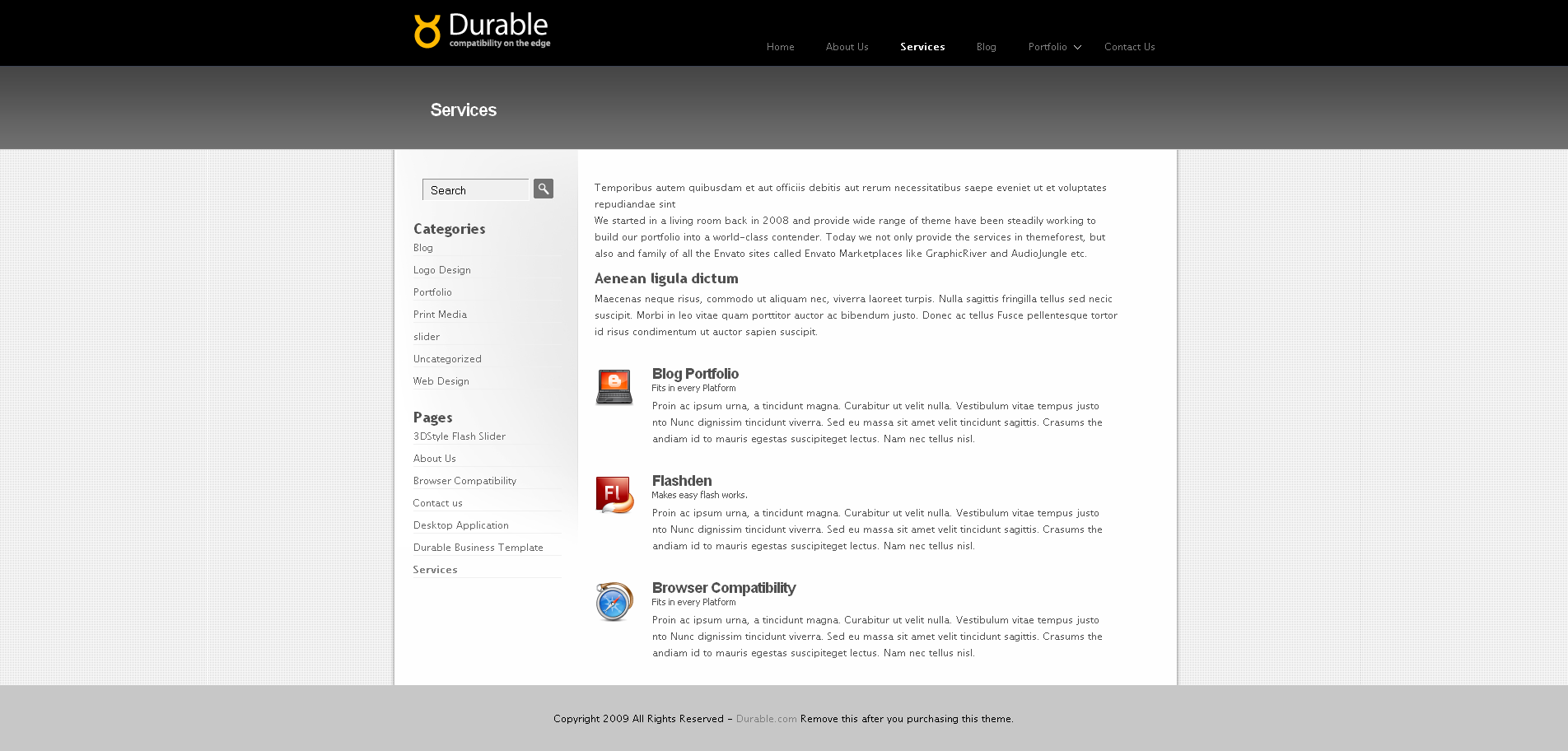 Durable 5 in 1 - Business & Portfolio Wordpress