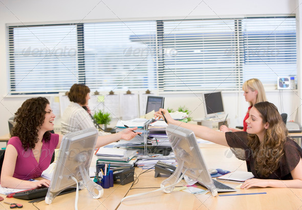 Women working in an office - Stock Photo - Images