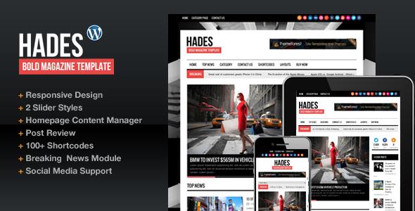 Hades Bold Magazine Newspaper Template