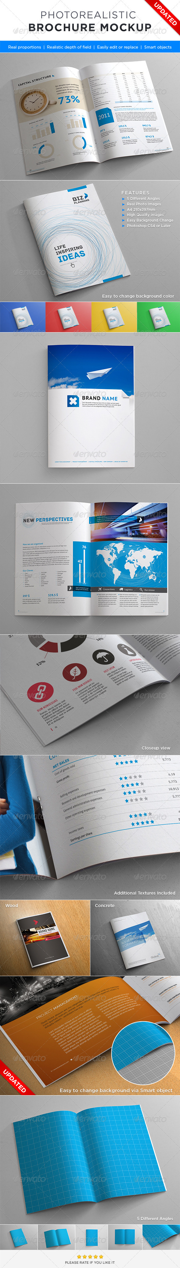 GraphicRiver Photorealistic Brochure Mock-up 2356999