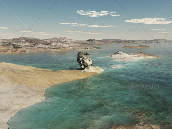 Buddha Landscape - Stock Photo - Images