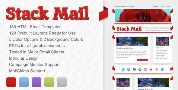 ThemeForest Stack Mail Email Template 3237630