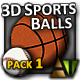 3D Sports Balls - Pack #1 - ActiveDen Item for Sale