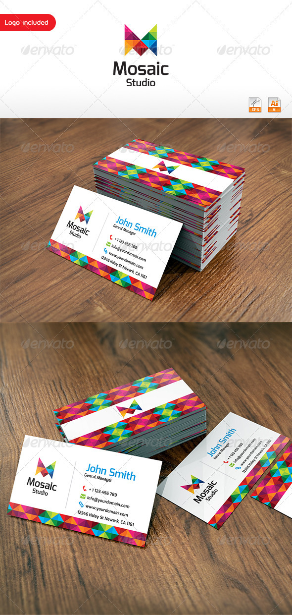 Mosaic Studio Business Card - Corporate Business Cards