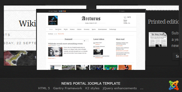 Arcturus - Joomla News Template