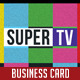 Super Tv - Video Editor | Business Card - GraphicRiver Item for Sale