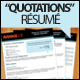 """Quotations"" Resume + Cover Letter - GraphicRiver Item for Sale"