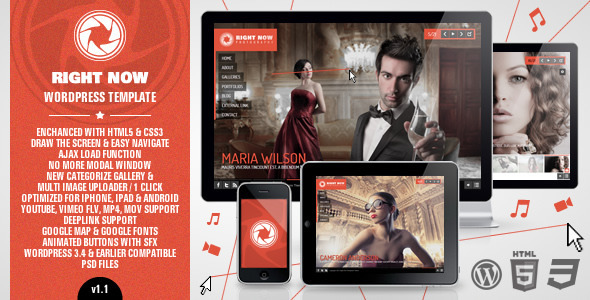 ThemeForest Right Now WP Full Video Image with Audio 1575990