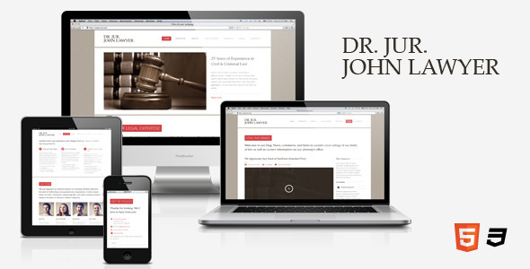ThemeForest Dr Lawyer Responsive HTML5 One-Page Template 3239198