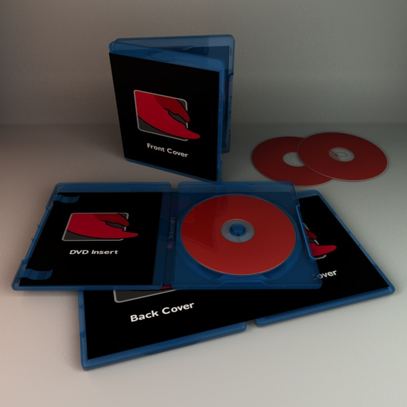 Blu-Ray DVD Case - 3DOcean Item for Sale