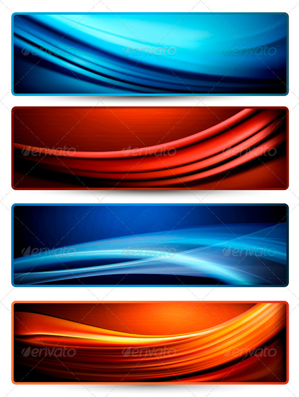 Set of colorful abstract business banners