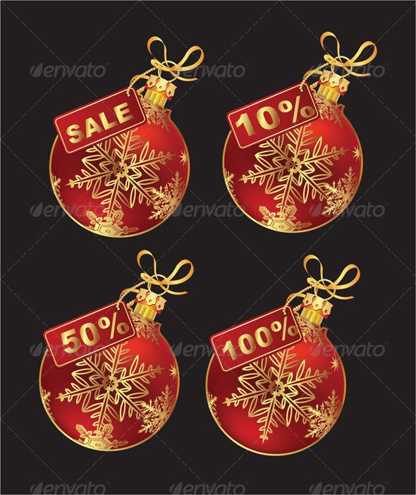 Christmas Balls with Price Tag