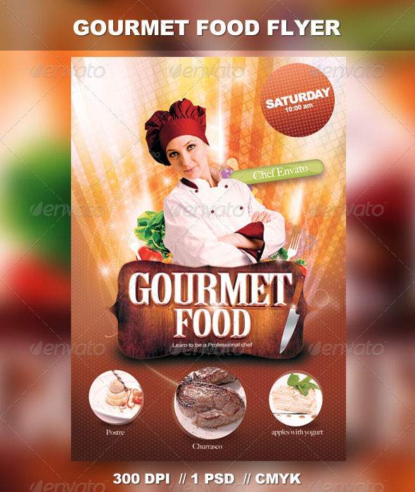 GraphicRiver Gourmet Food Flyer 2892887