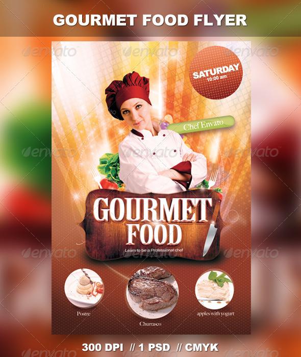 GraphicRiver Gourmet Food Flyer 2892887