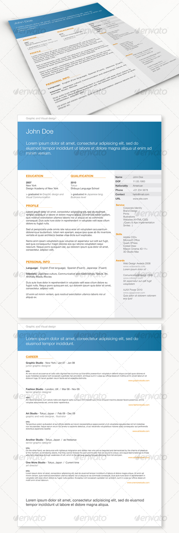 Get Minimal Resume 01