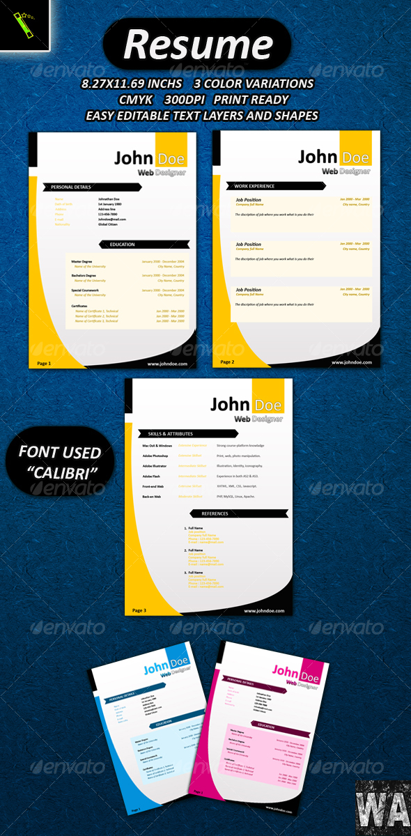 GraphicRiver Resume 112273
