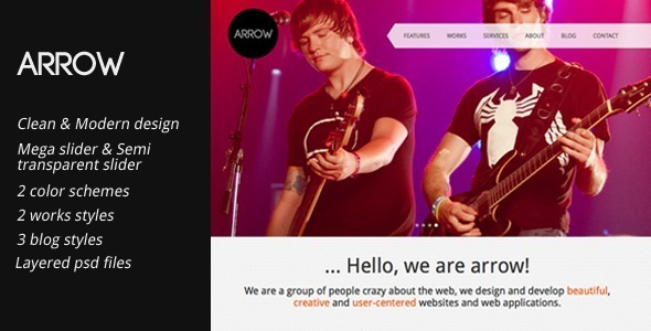 ThemeForest Arrow Clean and Creative HTML Template 3240826