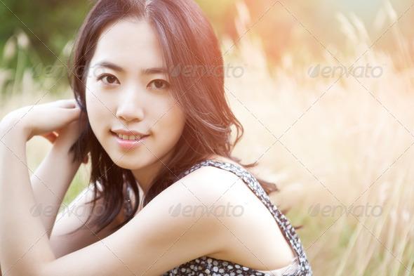Beautiful asian woman - Stock Photo - Images