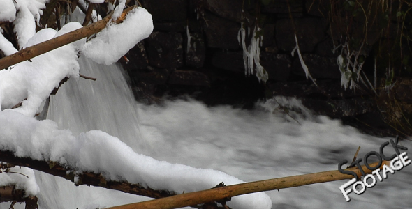 Winter Water FullHD Stock Footage H.264