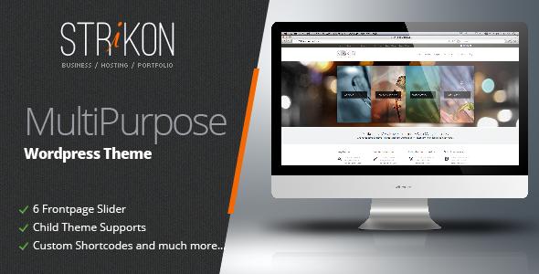 ThemeForest Strikon Corporate Hosting & Portfolio WP Theme 502111
