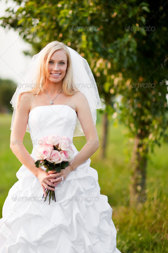 Beautiful bride - Stock Photo - Images