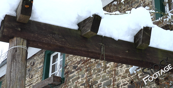 Winter Cottage FullHD Stock Footage H.264