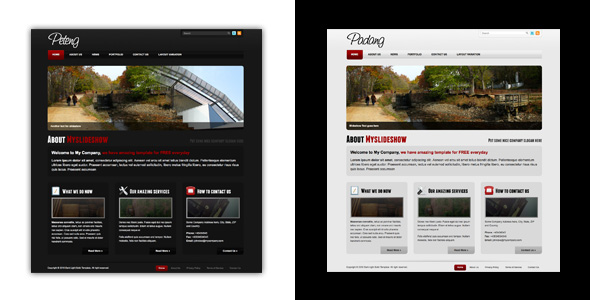Dark and Light Business Template - Preview