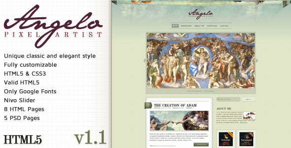 Angelo - Art Template - HTML