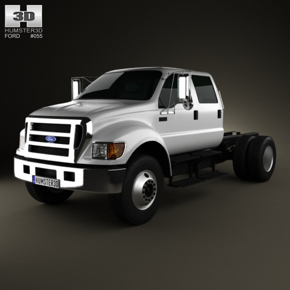3DOcean Ford F-650 F-750 Double Cab Chassis 2012 3243746
