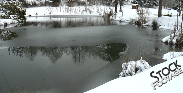 Winter Lake FullHD Stock Footage H.264