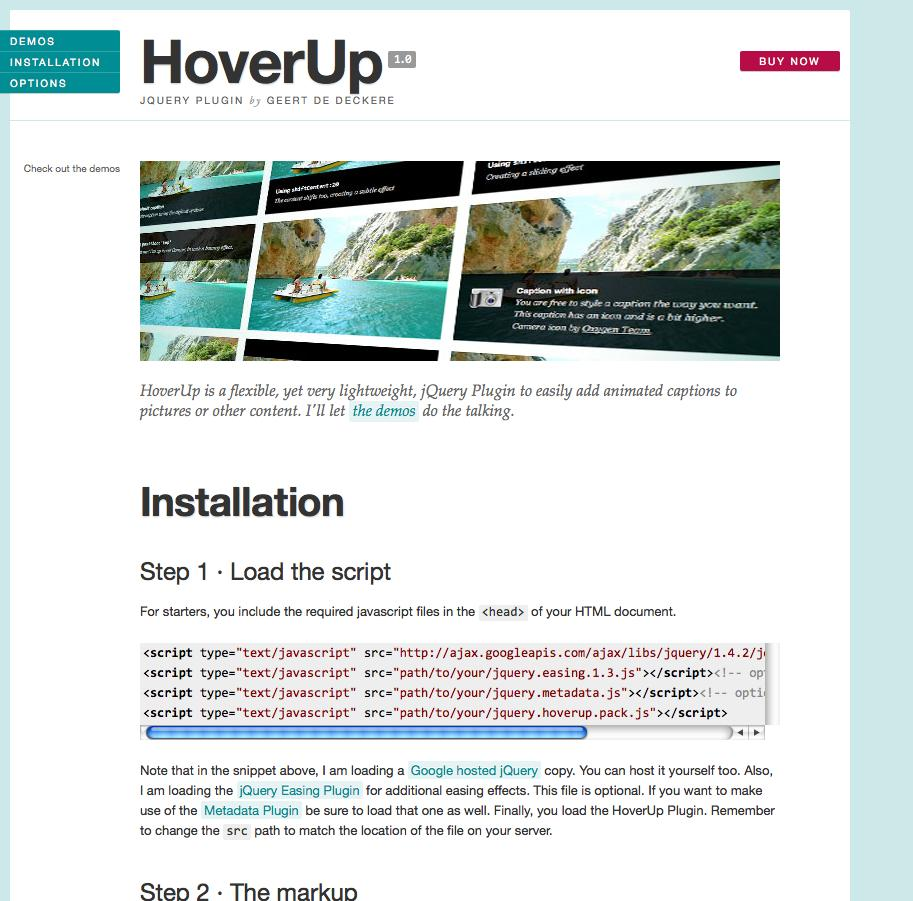 HoverUp - jQuery Plugin