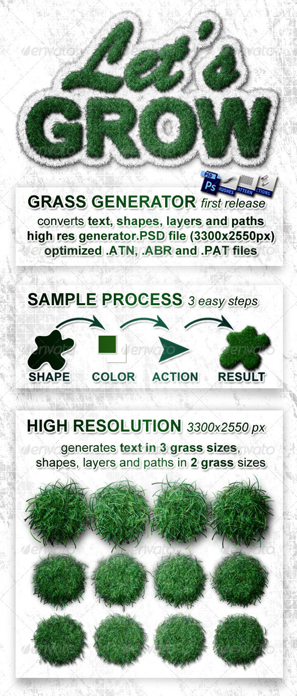 GraphicRiver Realistic Grass Generator Let s Grow 3246180
