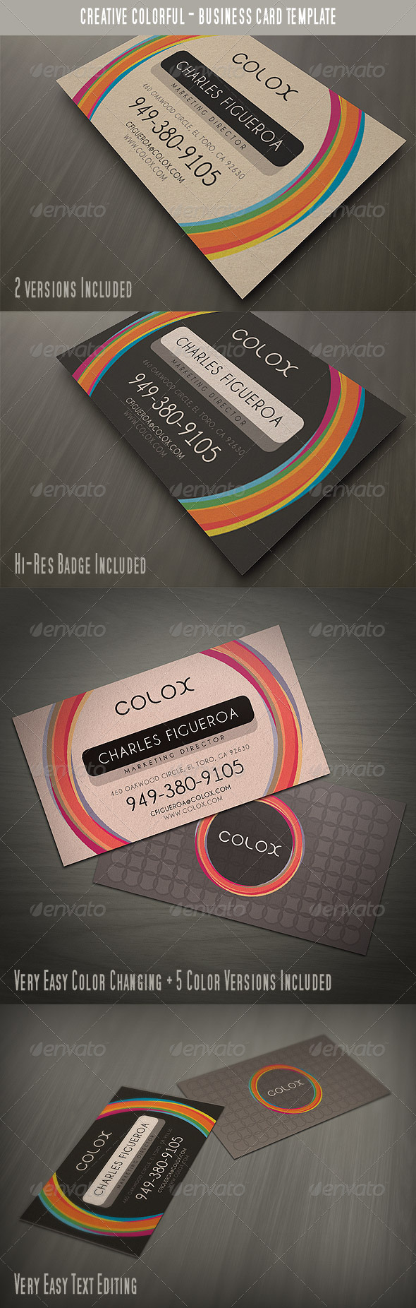 Creative Colorful Style Business Card - Creative Business Cards