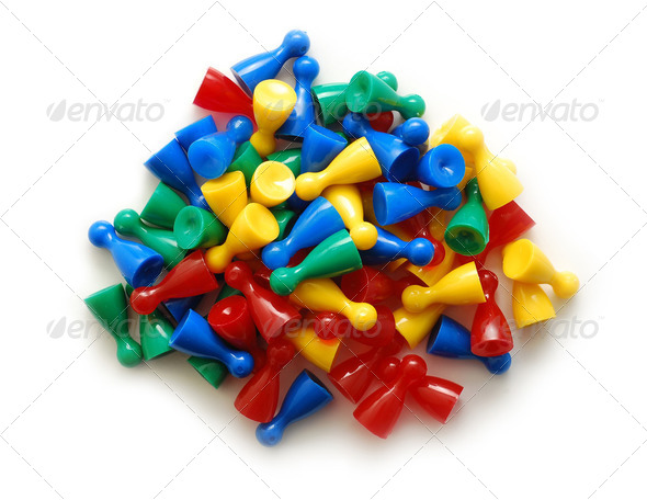 gaming pieces - Stock Photo - Images